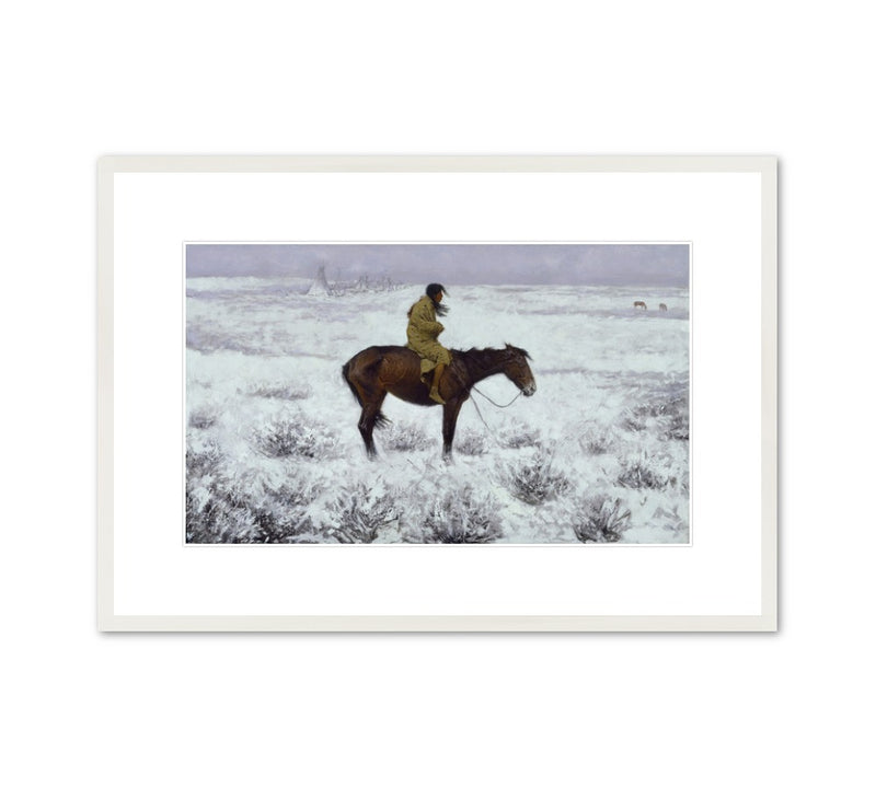 "Frederic Remington ""The Herd Boy"" Framed Print"