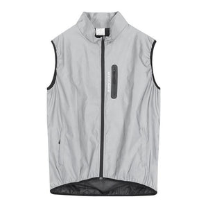 Full Reflective Sleeveless Jacket - Running & Cycling - FlexActive Fitness