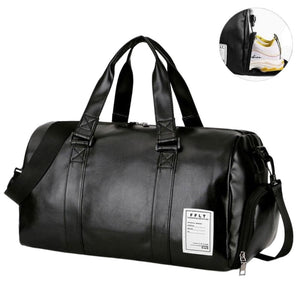 Leather Gym Training Duffel Bag - FlexActive Fitness