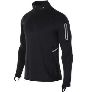 Mens Running Zipper Pocket Pullover - FlexActive Fitness