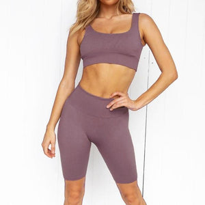 Women's Yoga Set - Dark Purple - FlexActive Fitness