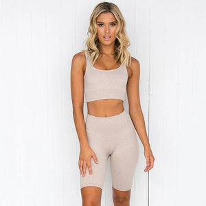 Women's Yoga Set - Grey - FlexActive Fitness