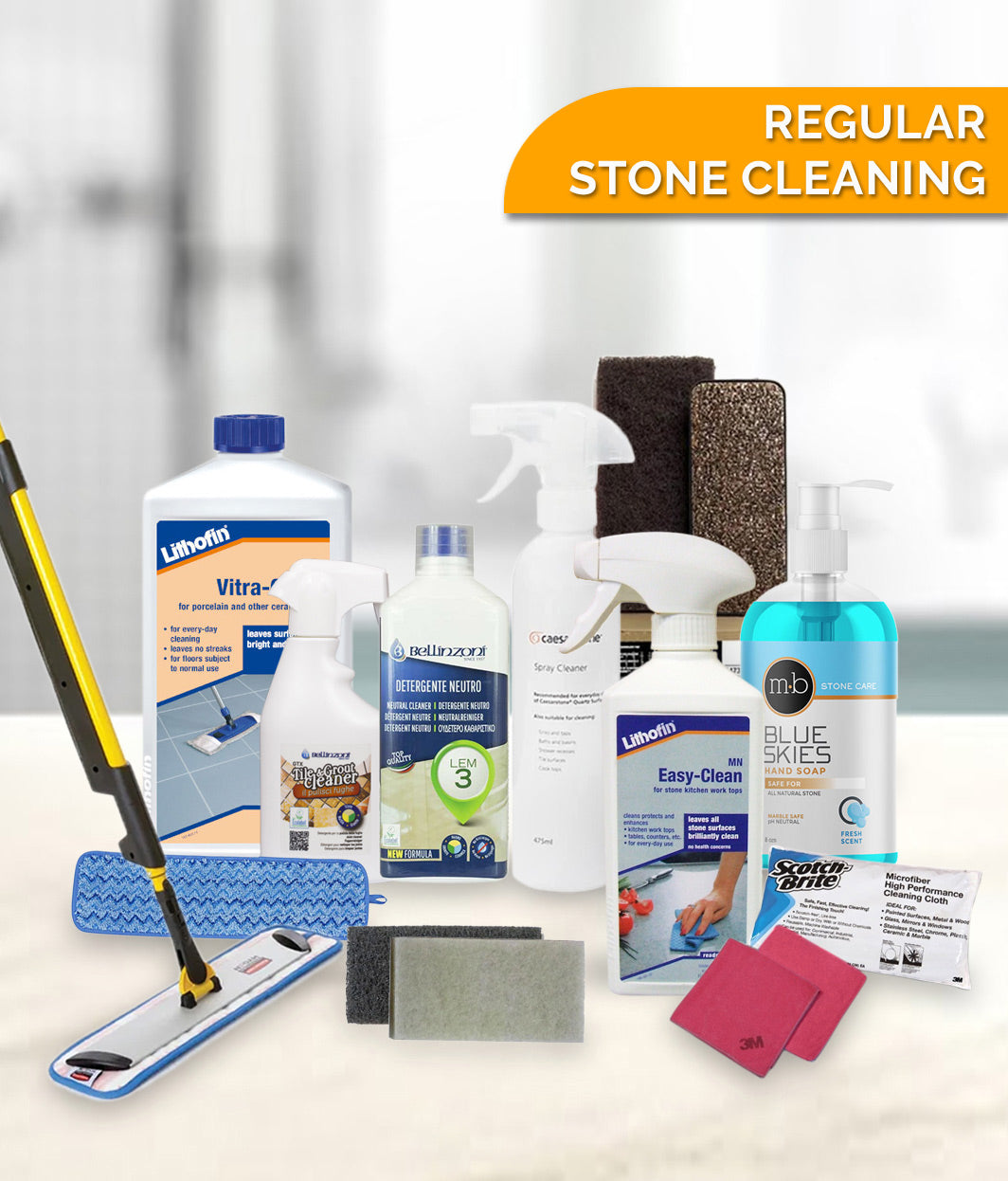 APPROVED REGULAR STONE CLEANING PRODUCTS