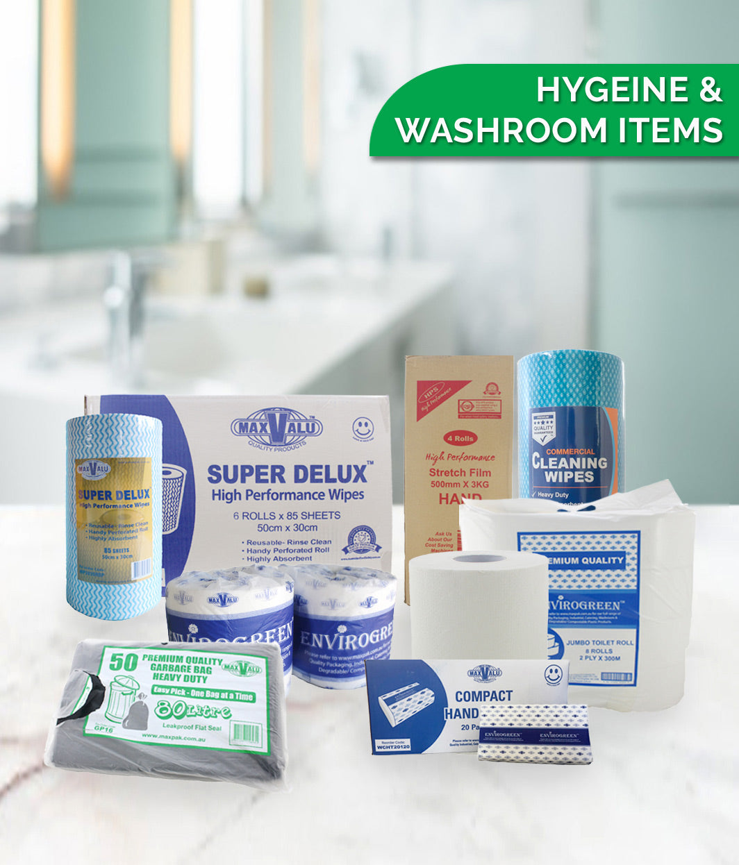 HYGIENE & WASHROOM CONSUMABLES ITEMS