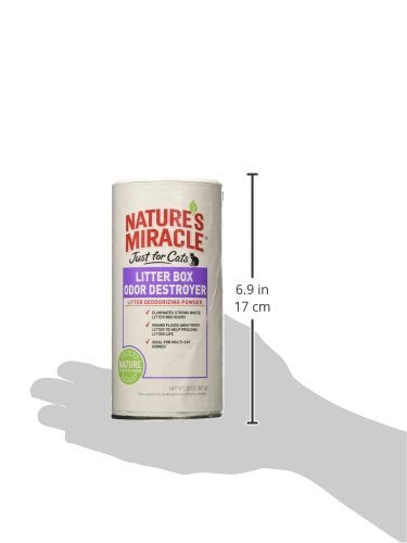 Nature's Miracle Just for Cats Odor Destroyer Litter Powder, 40 oz