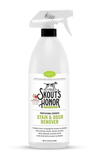 Skout's Honor Professional Strength, All-Natural Pet Stain & Odor Remover - Non-Toxic, Biodegradable, and Eco-Friendly - Destroys Stinky Odor Molecules On Contact - 32-OZ Spray Bottle (2 Pack)
