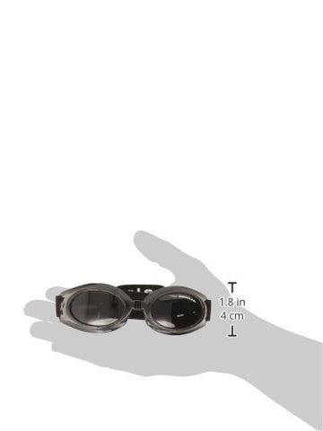 Doggles Originalz Small Frame Goggles for Dogs with Smoke Lens, Black
