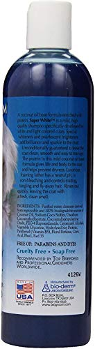 BIO-GROOM Super White Pet Shampoo, 12-Ounce