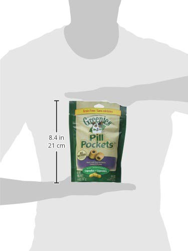 Greenies Canine Pill Pockets Cap Duck/Pea 6.6oz (pack of 3)