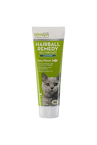 Tomlyn Hairball Remedy Gel for Cats, Tuna Flavor, (Laxatone)