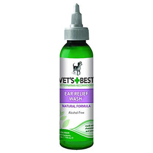 Vet's Best Ear Relief Wash for Dogs (4 fl oz)