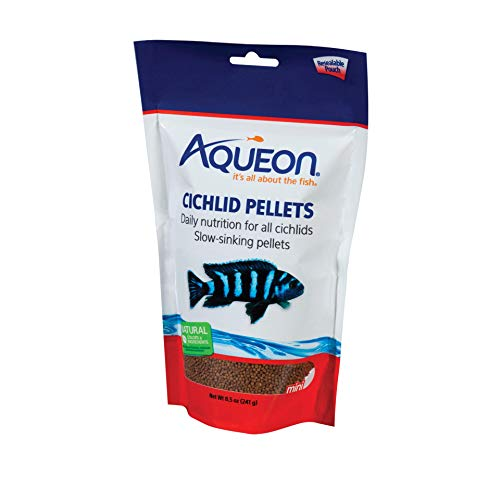 Aqueon Cichlid Food Mini Pellets, 8-1/2-Ounce