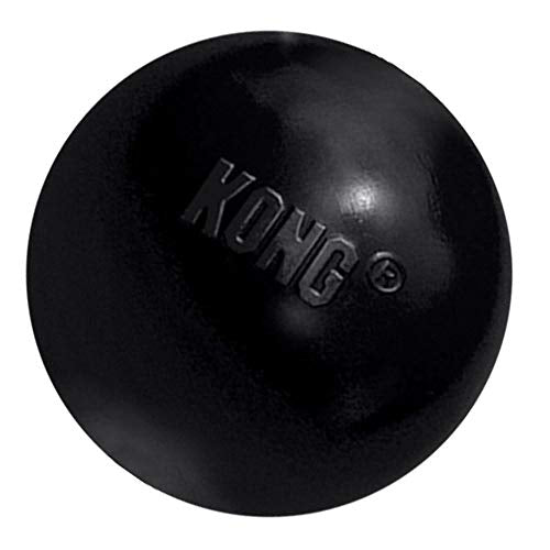 KONG - Extreme Ball - Durable Rubber Dog Toy for Power Chewers, Black - For Medium/Large Dogs