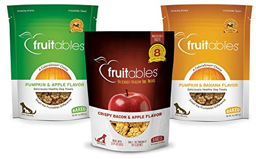 Fruitables Crunchy Dog Treats 3 Flavor Variety Pack of 3