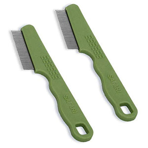 Safari Cat Flea Combs, 2 Pack, Single Sided