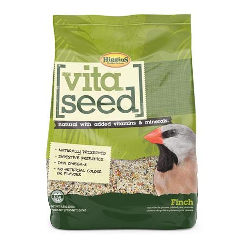 Higgins 466160 Nederland'S Vita Seed Bird Food-Finch 5 Lb (1 Pack), One Size