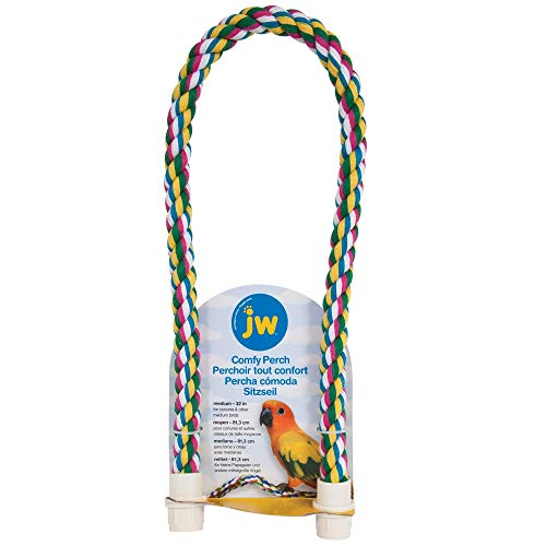 JW Pet Comfy Perch For Birds Flexible Multi-color Rope