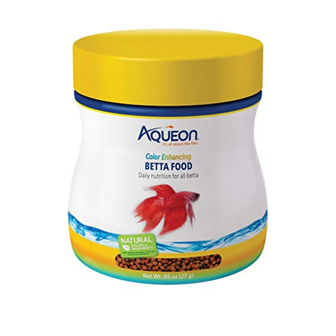 Aqueon Color Enhancing Betta Food, .95 Ounces
