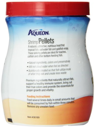 Aqueon Shrimp Food Pellets, 6-1/2-Ounce