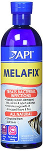 API (2 Pack) Melafix Antibacterial Fish Remedy 16-Ounce Bottles