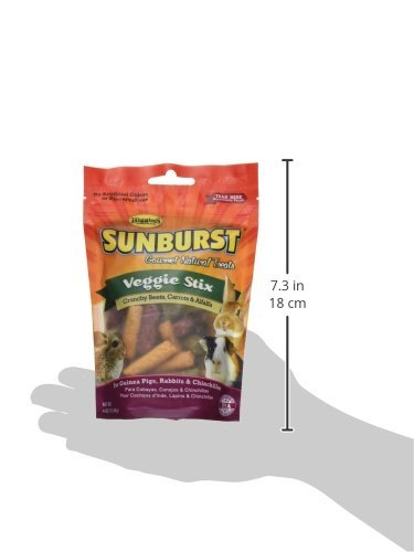 Higgins Sunburst Veggie Stix Gourmet Treats for Guinea Pigs, Rabbits & Chinchillas, 8 OZ