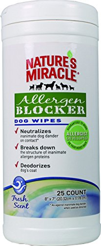 Nature's Miracle Allergen Blocker Dog Wipes 25 ct (NM-5443)