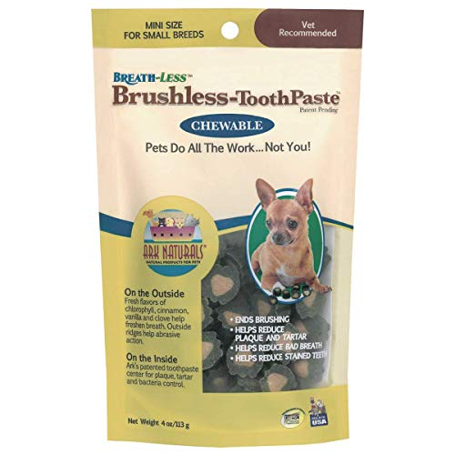 ARK NATURALS Products for Dogs Breathless Chewable Brushless Toothpaste, Mini, 8-Ounce