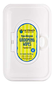 Earthbath All Natural Grooming Wipes, Hypo-Allergenic and Fragrence Free - Pack of 1