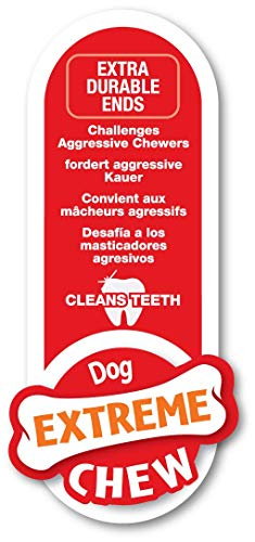 Nylabone Dura Chew Wolf Bacon Flavored Double Action Bone Dog Chew Toy