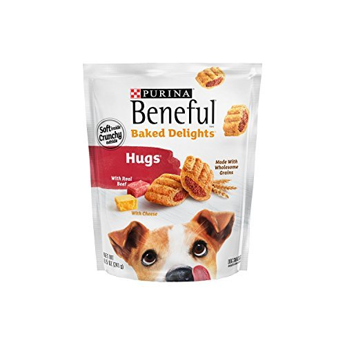 Purina Beneful Baked Delights Hugs Dog Treats - 8.5 oz. Pouch, Pack of 1