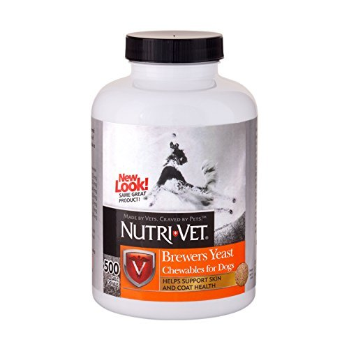 Nutri-Vet Brewers Yeast with Garlic Chewables, 1000 Count