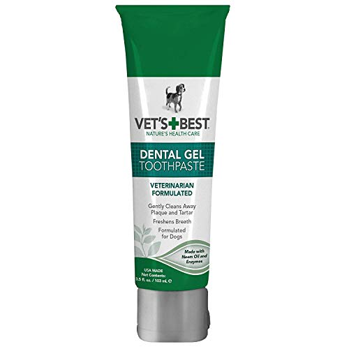 Vet's Best Enzymatic Dental Gel Toothpaste Dogs, USA Made (Toothpaste - 2 Pack)