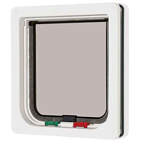 Cat Mate 4 Way Locking Cat Flap, White