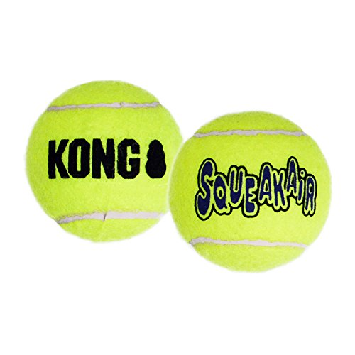 KONG Squeakair Balls, Dog Toy Premium Squeak Tennis Balls for Medium Dogs, Pack of 6