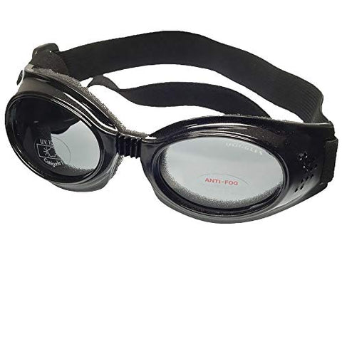 Doggles Originalz Black Frame/Smoke Lens, Choose a Size: Medium