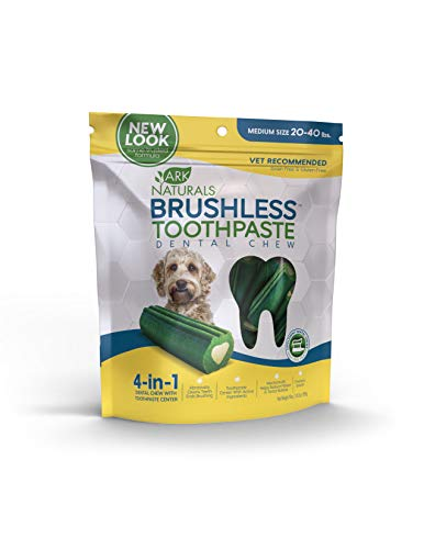 Ark Naturals Brushless Toothpaste, Vet Recommended Natural Dental Chews for Dogs, Plaque, Tartar and Bacteria Control