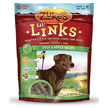 Zuke's Lil' Links Healthy Little Sausage Links for Dogs, Duck, Pack of 2