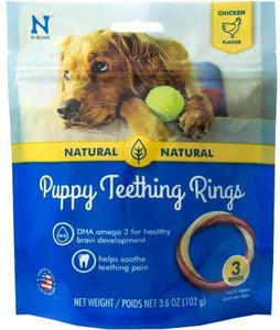 NPIC Puppy Teething Ring Chicken Flavor 3 Rings (3.6 oz)