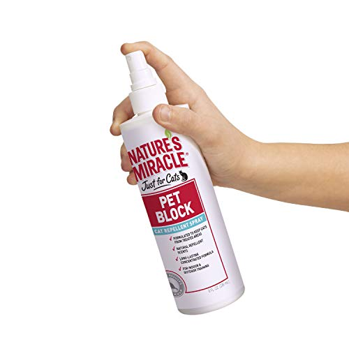 Nature's Miracle Pet Block Repellent Spray Just for Cats, 8-Ounce