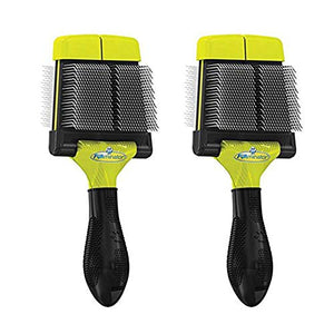 Firm Grooming Slicker Brush for Clean Healthy Coats, Large - 2 Pack