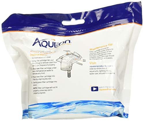Aqueon (2 Pack) Minibow Replacement Filter Cartridge Size Small (6 Cartridges Per Pack / 12 Total)