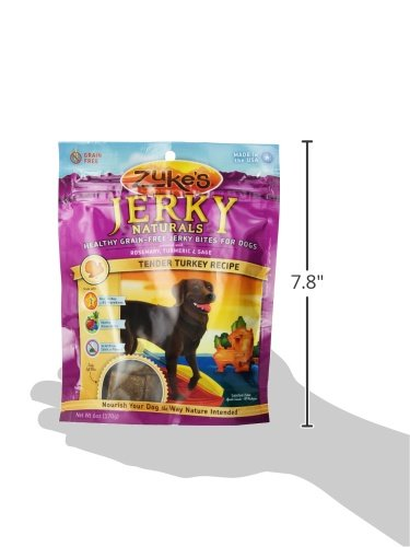 Zuke'S Jerky Natural Bites Turkey Recipe Dog Treats - 6 Oz. Pouch