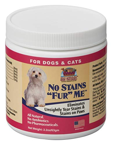 Ark Naturals No Stain Fur Me, Pet Tear and Rust Stain Remover Supplement Powder, 2.2oz