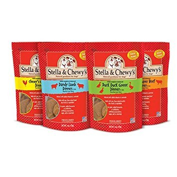 Stella and Chewy's Freeze Dried Raw Dinner Variety Pack 4 Flavors (Chicken, Duck, Lamb, Beef)