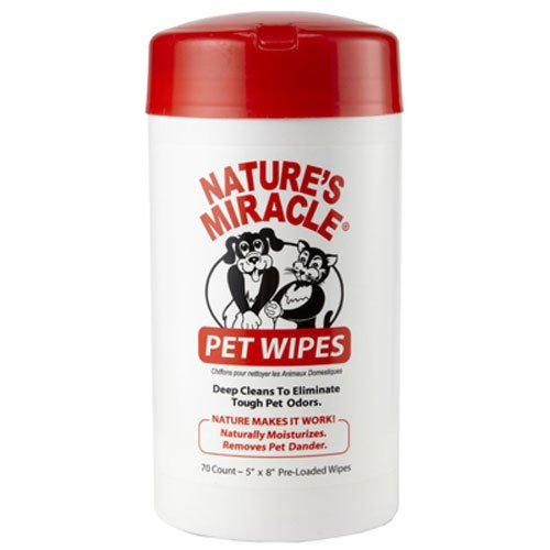 Nature's Miracle Dog, Cat, Small Animal Bath Wipes, 70-Count