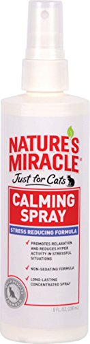 Nature's Miracle Just for Cats Calming Spray Stress Reducing Formula, 8-ounce (P-5780)