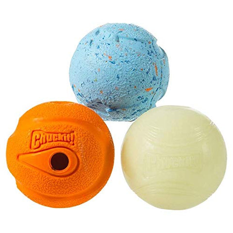 Chuckit! Fetch Medley Balls Medium, 2.5-Inch, 6-Pack