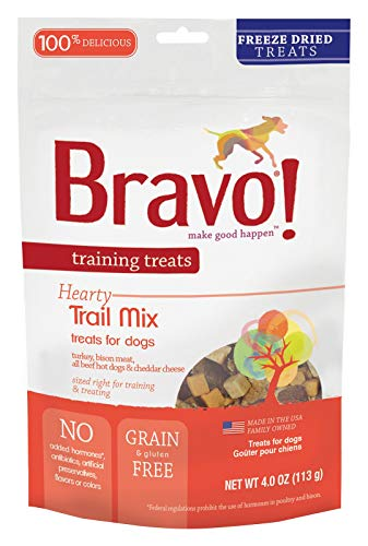 Bravo Dog Treats Freeze Dried Trail Mix Snack Training Treat For Pets 4 oz Bag