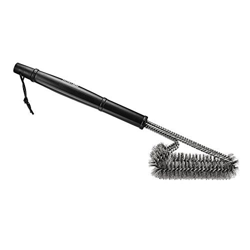 "Iron Gadget BBQ Grill Brush Effortless Cleaning 360° Grill Cleaning with Stainless Steel Bristles- 18"" Long Handle- Suited for Various Grills and Grates Blowout"