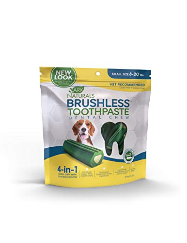 Ark Naturals Brushless Toothpaste, Dog Dental Chews for Small Breeds, Vet Recommended for Plaque, Bacteria & Tartar Control, 1 Pack